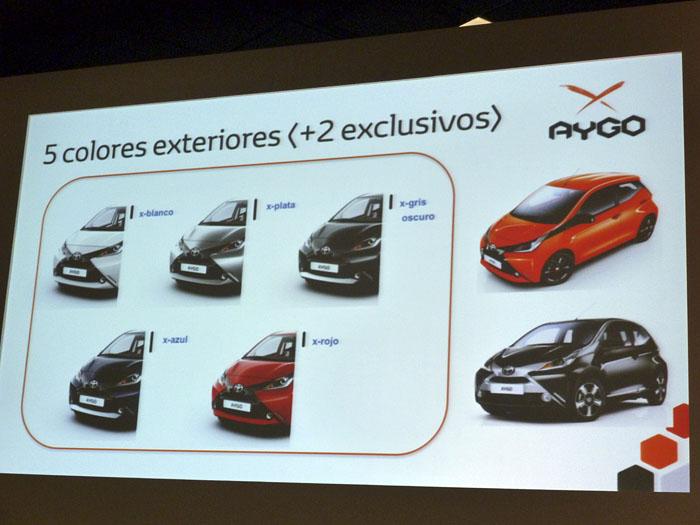 Toyota Aygo (2015) Presentación. 7 colores exteriores