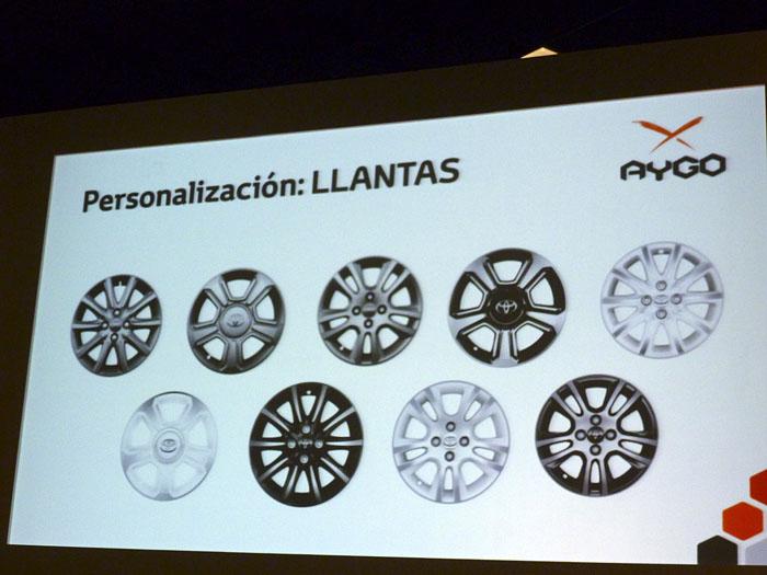 Toyota Aygo (2015) Presentación. Personalización de llantas