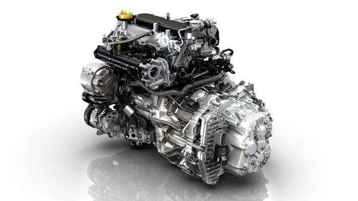 Al verlo fuera de su vano en la carrocería, se comprende que el motor no puede resultar muy estético una vez instalado. Impresionante el volumen de la transmisión EDC; es lógico que este GT pese unos 80 kilos más que el 0.9-TCe con un tricilíndrico y cambio manual de cinco marchas.