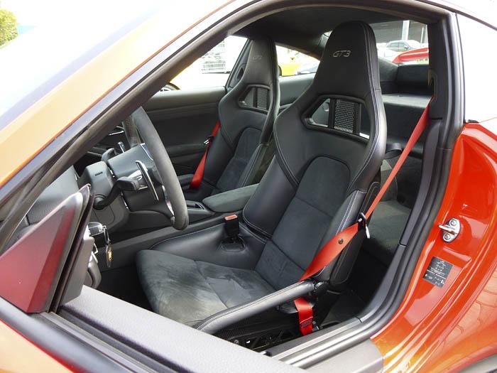 Porsche 911 GT3. Asientos.