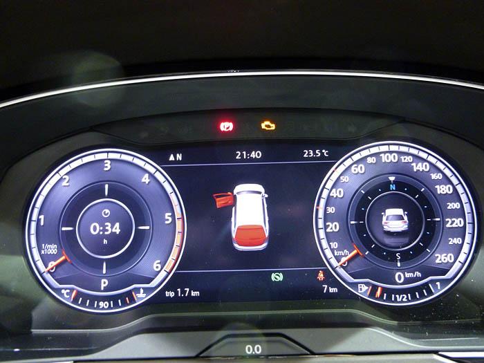 Presentación Volkswagen Passat 2015. Pantalla de instrumentos