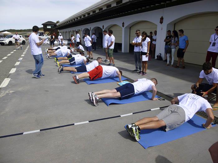 GT Academy. Pruebas físicas. Flexiones.