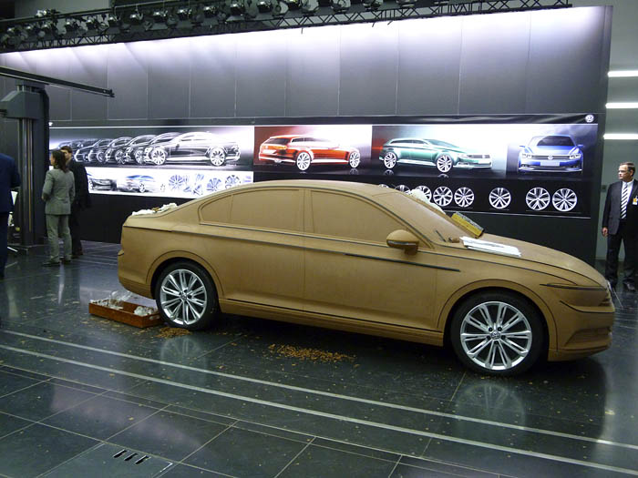 Presentación Volkswagen Passat 2015. Réplica en Arcilla