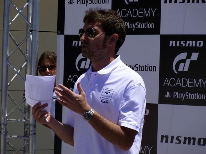 GT Academy 2014. el portavoz de la organización.
