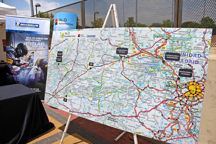 ALD EcoMotion Tour. Mapa itinerario