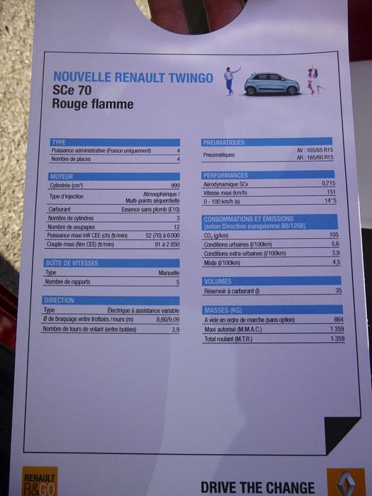 Renault Twingo 2015. Gasolina, 70 CV