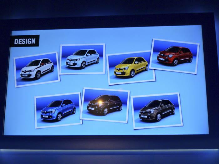 Renault Twingo 2015. Siete colores de carrocería