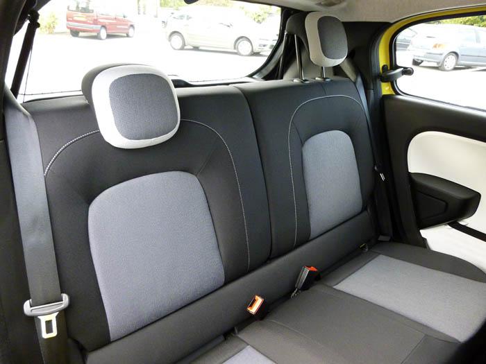 Renault Twingo 2015. Asientos posteriores