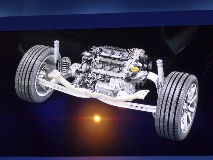 Renault Twingo 2015. Zona posterior. Motor y ruedas.
