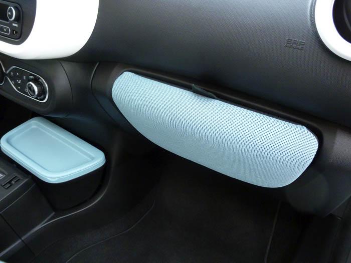 Renault Twingo 2015. Bolsa guantera en su hueco