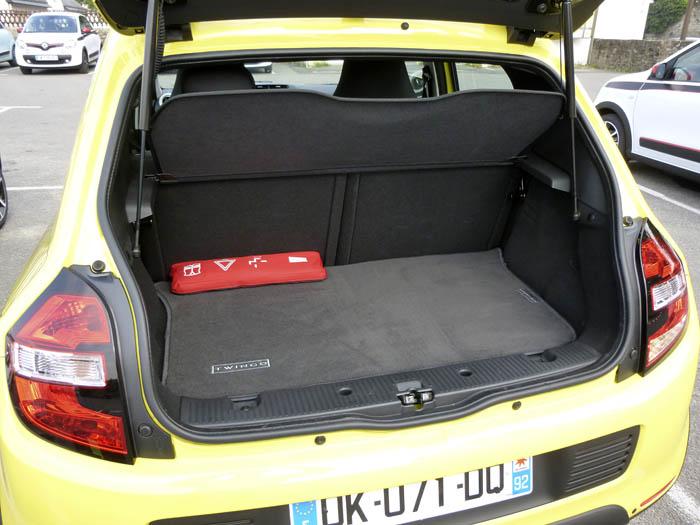 Renault Twingo 2015. Maletero
