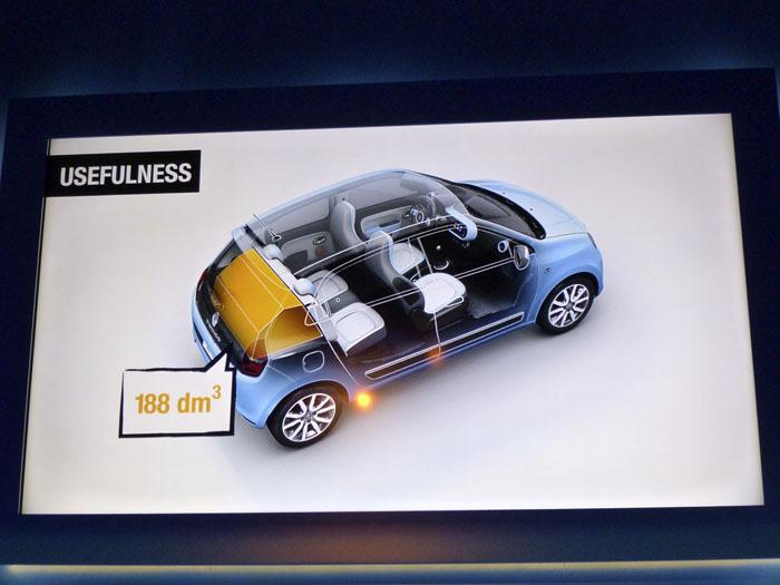 Renault Twingo 2015. Volumen del maletero.