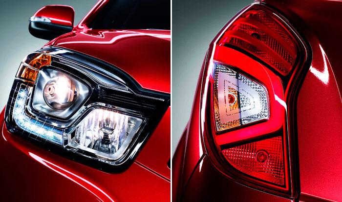 Las luces diurnas delanteras y los pilotos traseros son a base de LEDs, foco lumínico que se está imponiendo rápidamente, por su mayor brillo y menor consumo.