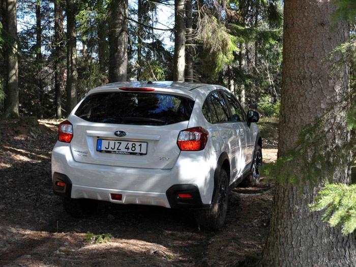 El diseño posterior del Subaru es más peculiar: no utiliza el habitual perfil horizontal para los pilotos, que son muy compactos, y añade abajo unas zonas negras en los catadióptricos que resaltan casi en exceso, al menos con la pintura blanca de la unida de la foto.