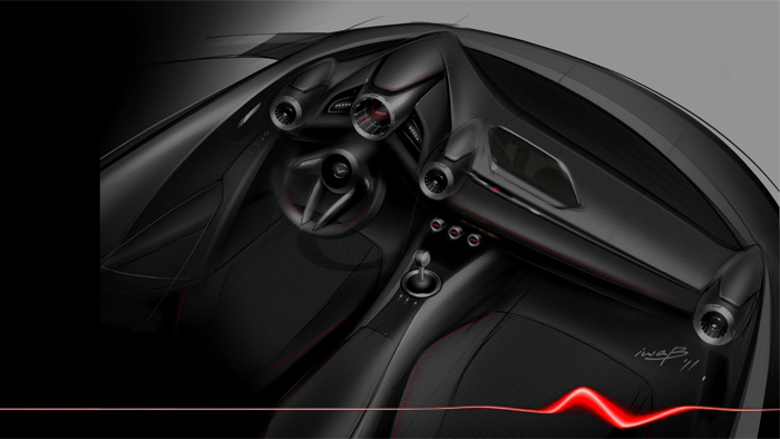 Mazda2 Interior Design. Diseño interior.