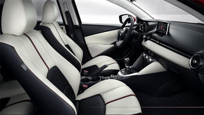 Mazda2 Interior Design. Diseño interior. Front seats. Asientos