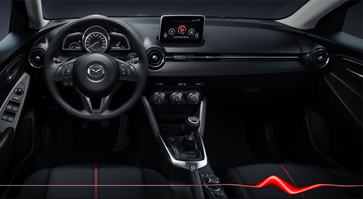 Mazda2 Interior Design. Diseño interior.  Variantes