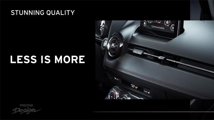 Mazda2. Diseño interior. Less is more