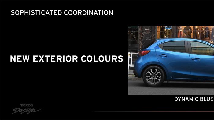 Mazda2. Diseño interior. Nuevos colores