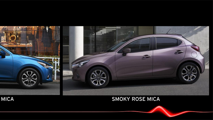 Mazda2. Diseño interior. Smoky Rose Mica. New colour.