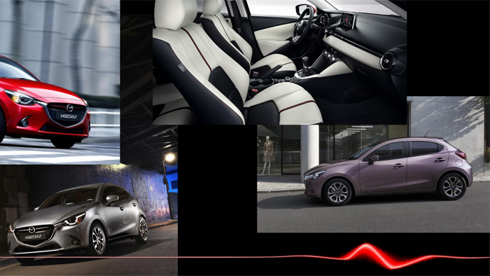Mazda2. Diseño interior. Combinación color interior exterior