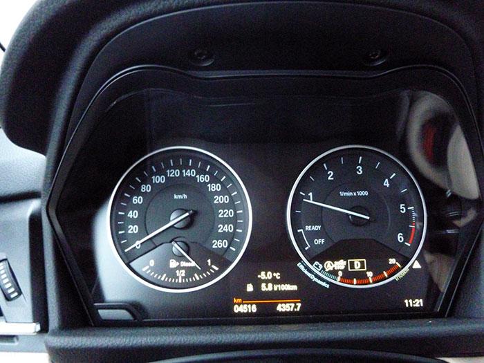 Auroras77. Kilómetros y temperatura. BMW Active Tourer.