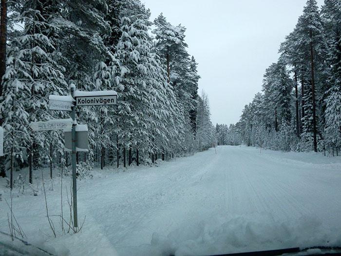 Auroras77. Nieve en la carretera.