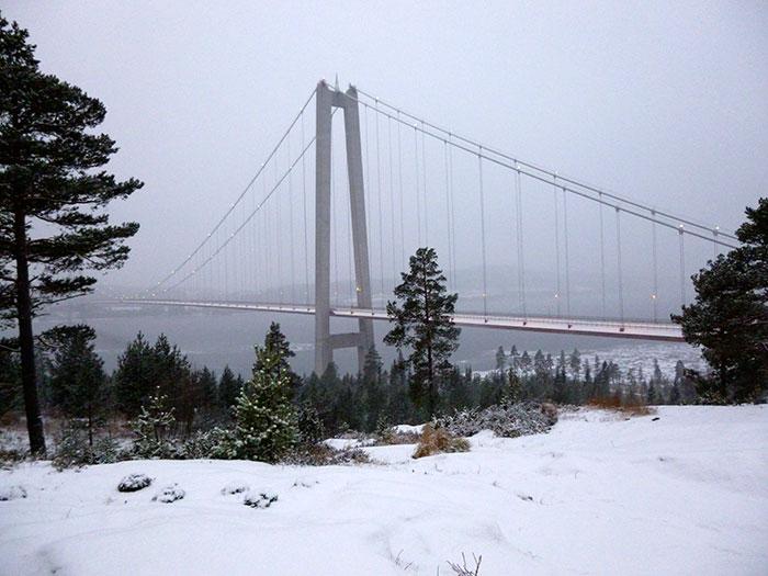 Puente en Sandöverken. Vista desde el hotel.