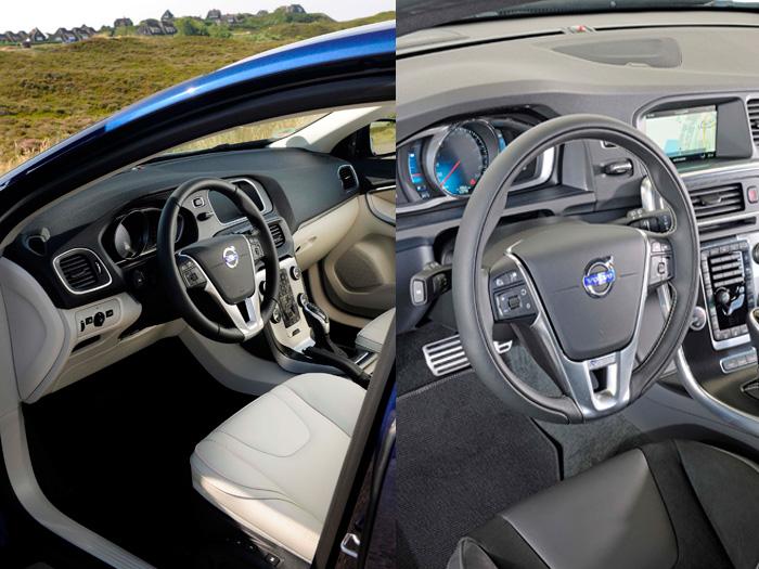 También en el interior el aire de familia se impone, con algo más de sofisticación en el caso del V60, más arriba en la gama.