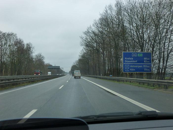 Alemania, autopistas. Límites de velocidad.