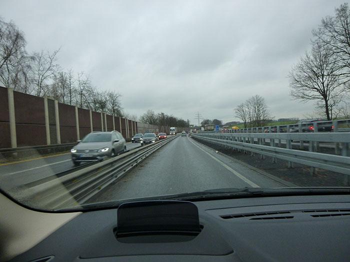 Autopista en obras. Alemania.