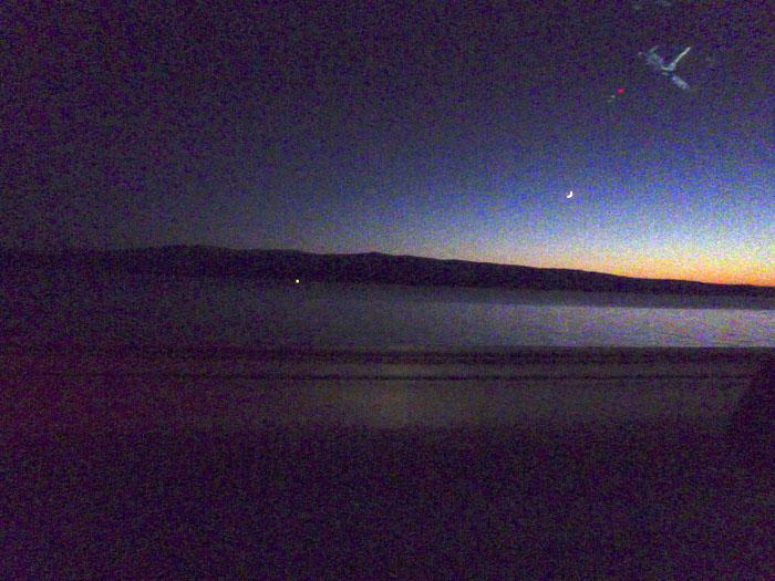 Auroras77 La noche el frío y la luna