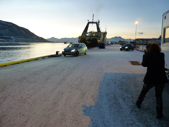 Tromso. Puerto. Auroras77. Making of.