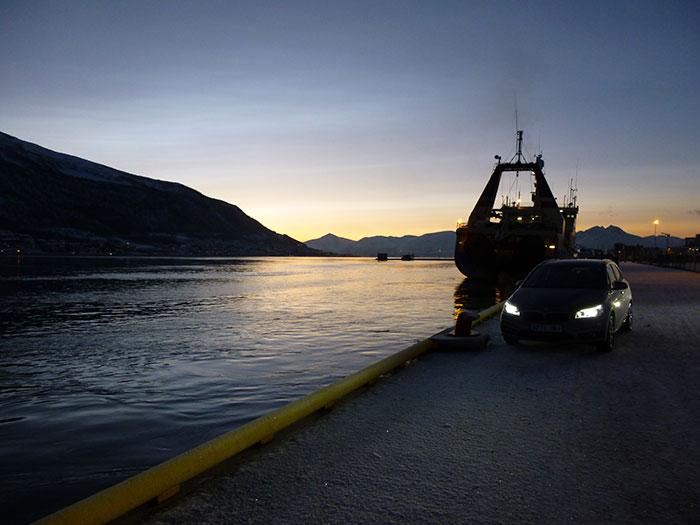Auroras77. Puerto de Tromso.
