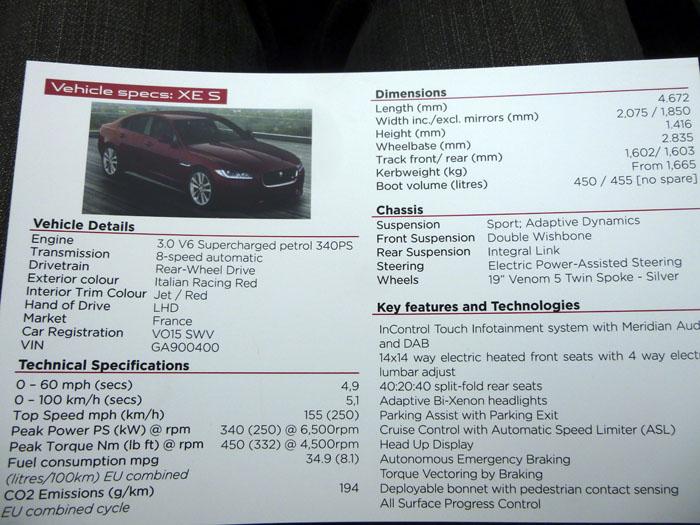 Jaguar XE 3.0 V6 340 CV