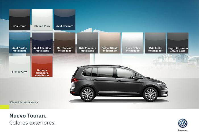 Volkswagen Touran 2016. Colores