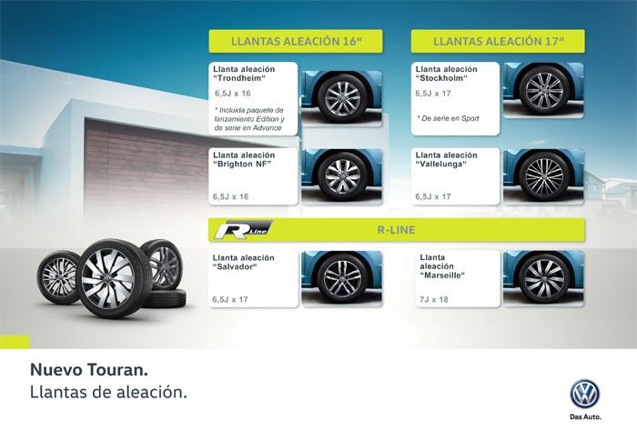 Volkswagen Touran. Llantas