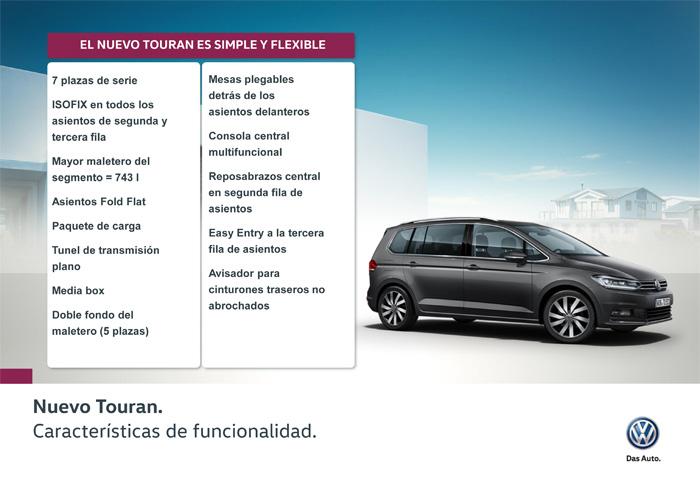 Volkswagen Touran. Equipamiento y funcionalidad