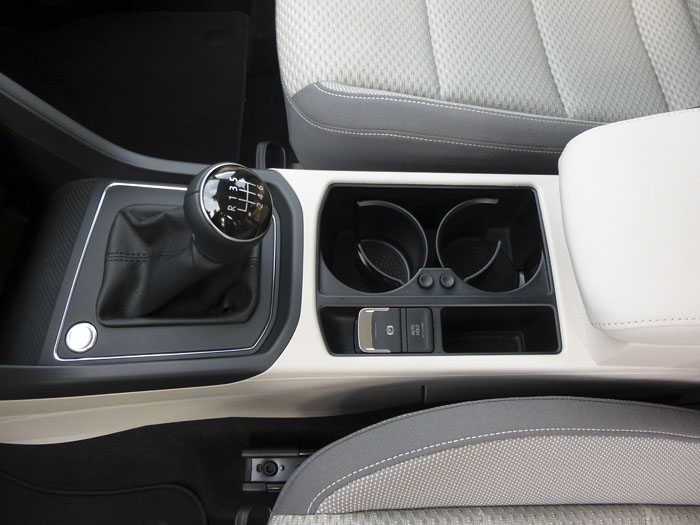 Volkswagen Touran. Consola central.