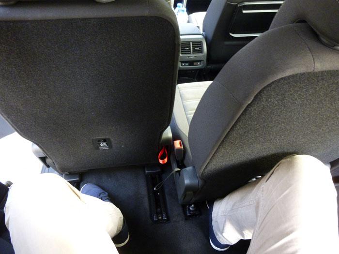 Volkswagen Touran. Espacio para piernas. Tercera fila.