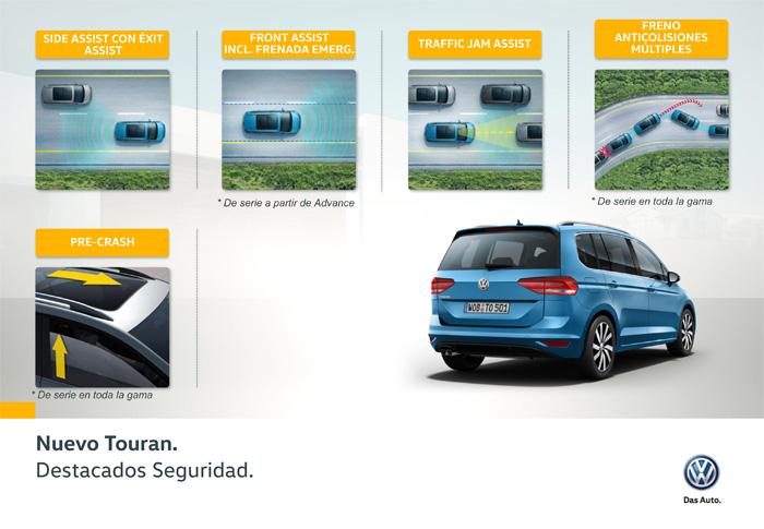 Volkswagen Touran. Equipamiento de seguridad