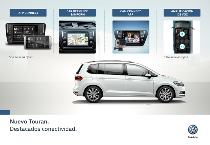 Volkswagen Touran 2016.Elementos de conectividad.