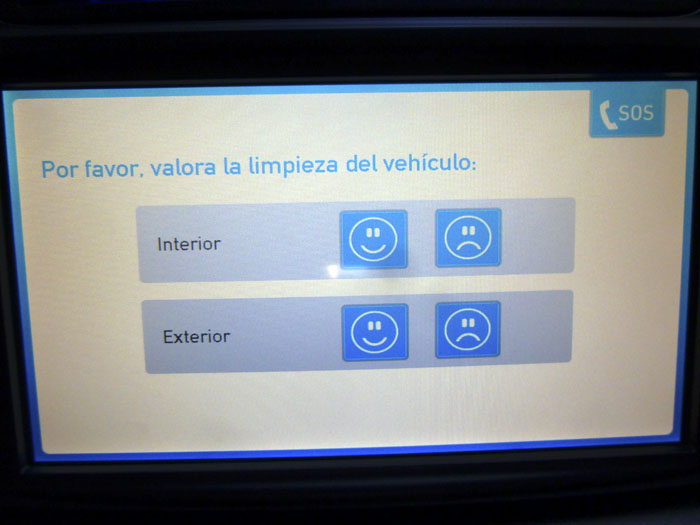 Car2go. Examen de limpieza