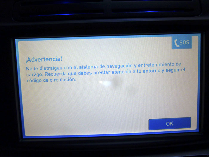 Car2go advertencia