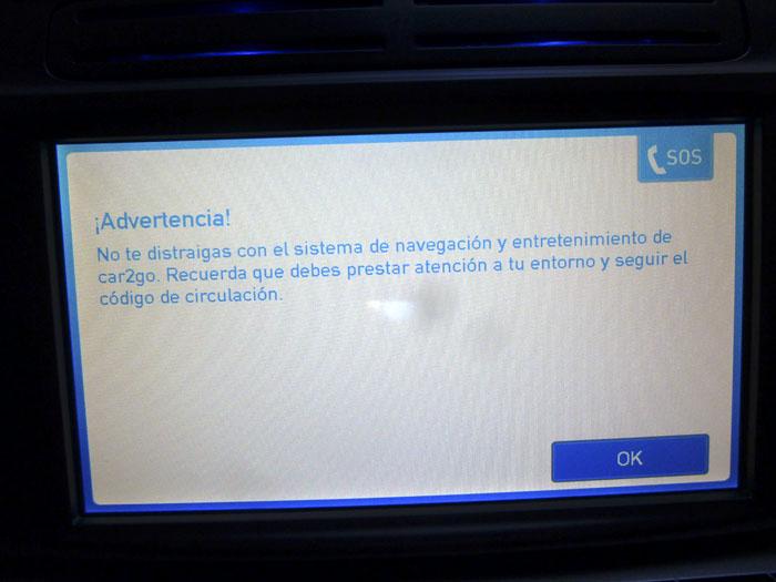 Car2go advertencia