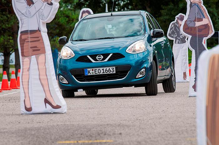 La presentación en Alemania se celebró con una especie de gymkhana (muy enfocada, como el coche, al público femenino) que imitaba problemas del tráfico urbano. Buena parte de estas fotos corresponden a tal evento.