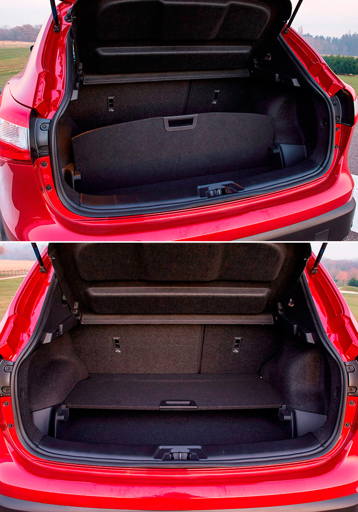 El maletero lleva un suelo del piso que también puede montarse a media altura, o bien como partición vertical; un detalle muy práctico.