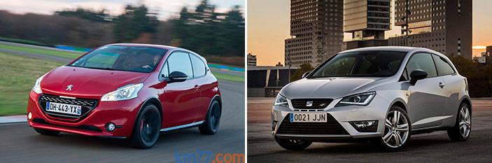 Prueba comparativa interesante (57): Peugeot 208 GTi by Peugeot Sport (1.6-THP 208 CV) / Seat Ibiza Cupra SC (1.8-TSI 192 CV)