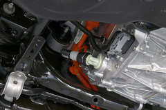 Vista lateral del motor trasero.