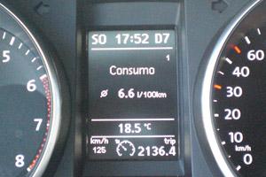 Volkswagen Golf. 100.000 km. Consumo.